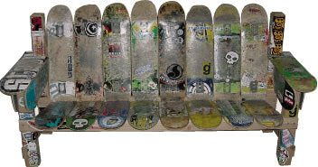 Skateboard Furniture Recycled Furniture Recycled Sports Equipment
