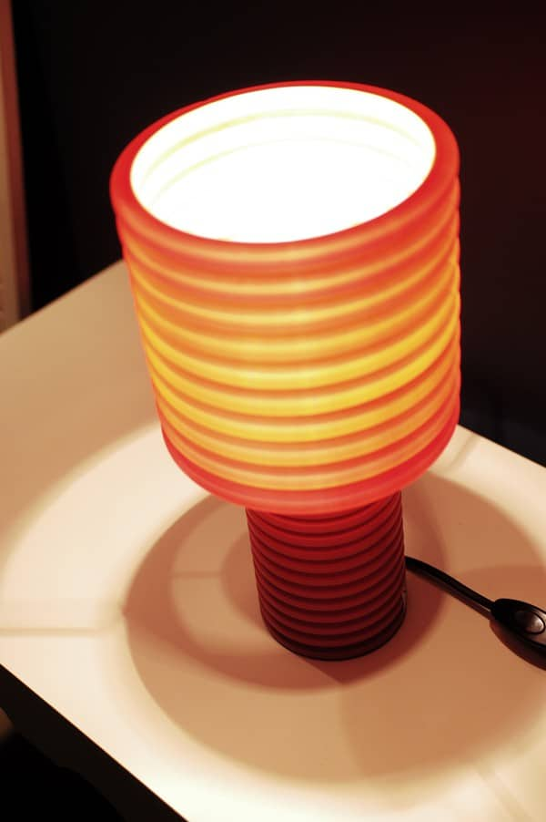 Corrugated Tube Transformed Into Lamps Lamps & Lights