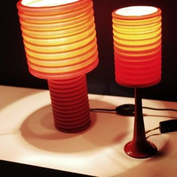 Corrugated Tube Transformed Into lamps