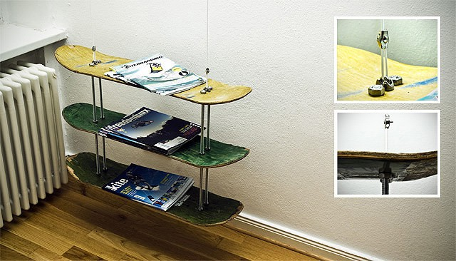 magrack4 ss2 Skateboard magazine rack in wood furniture  with Skateboard Magazine