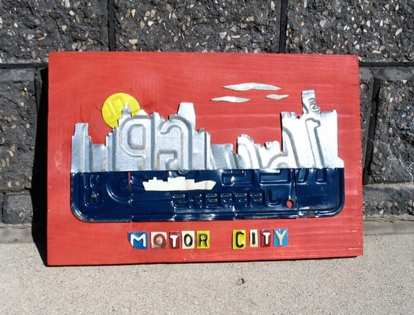 License Plate Art & Maps Do-It-Yourself Ideas Mechanic & Friends Recycled Art