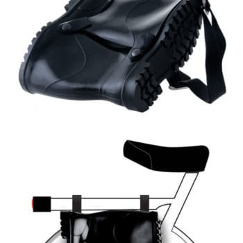 Rubber Boots As Bike Pouch