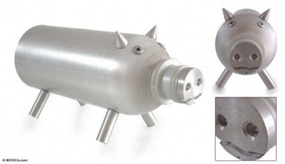 Aluminium piggy bank