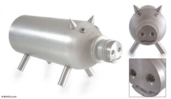 Aluminium Piggy Bank Recycling Metal