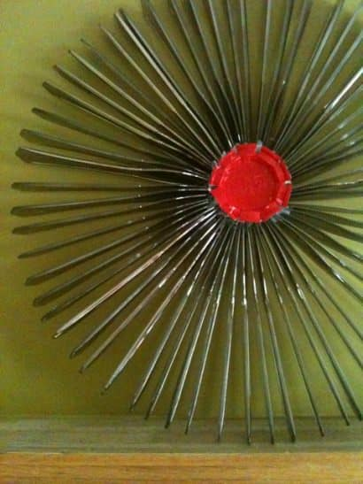 Recycled Plastic Knife Wreath