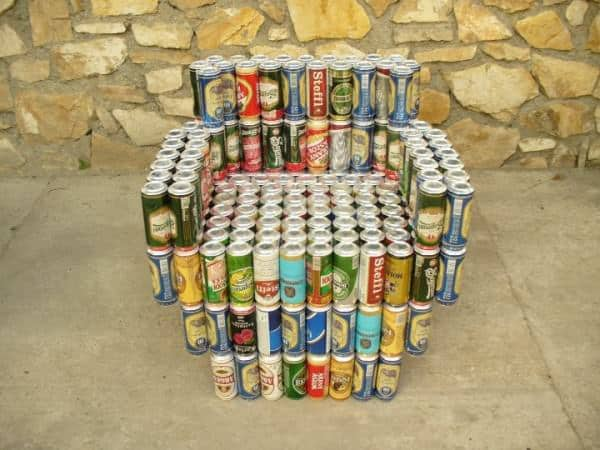 Beer Cans Into Furniture Do-It-Yourself Ideas Recycled Packaging