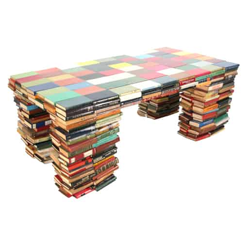 Books Table Recycled Furniture Recycling Paper & Books