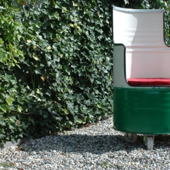 Castrol Barrel Upcycled Into Chair