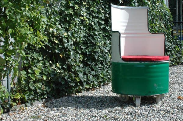 Castrol Barrel Upcycled Into Chair Recycled Furniture Recycled Packaging