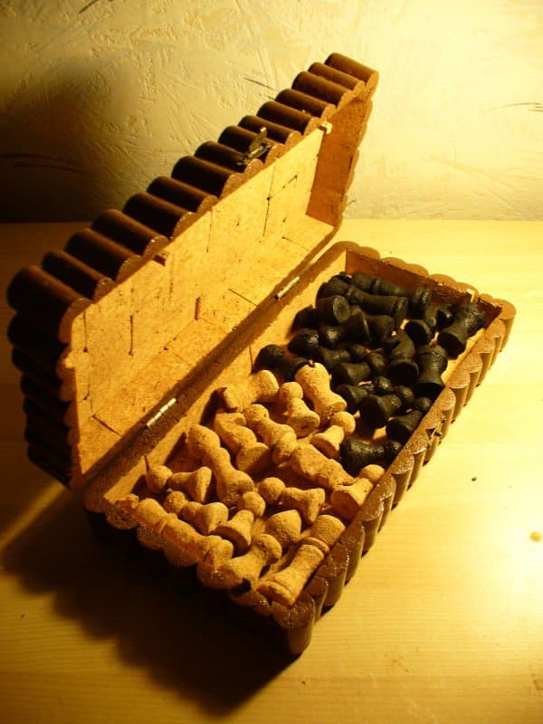 Chess Set Made of Corks Recycled Cork