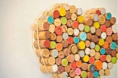 Corks for Decoration Do-It-Yourself Ideas Recycled Cork Wood & Organic