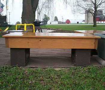 Diy: Chimney Block Benches