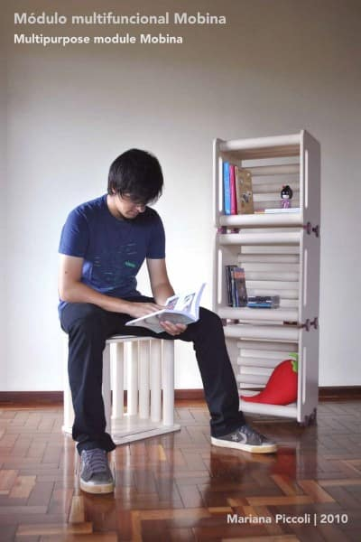 Mobina Multifunctional Module Recycled Cardboard Recycled Furniture