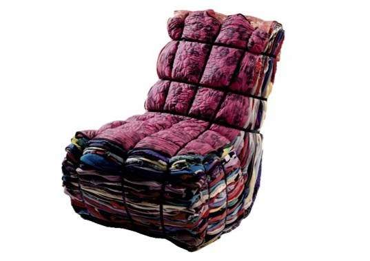 Rag Chair by Remy Tejo Recycled Furniture