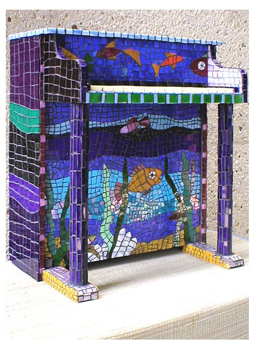 Tuna Piano Recycled Art Recycled Glass