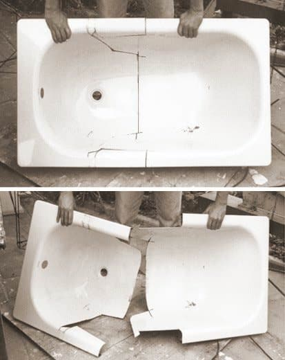 What to Do with an Old Bath ? Recycled Furniture