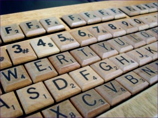 Scrabble Keyboard (& Others) Recycled Electronic Waste