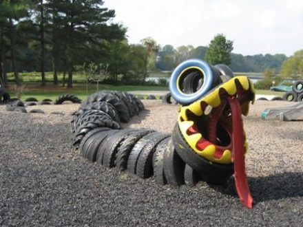 Snake on the playground