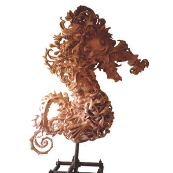 The Seahorse Sculpture - The Worlds Most Complex Papier-mache Sculpture