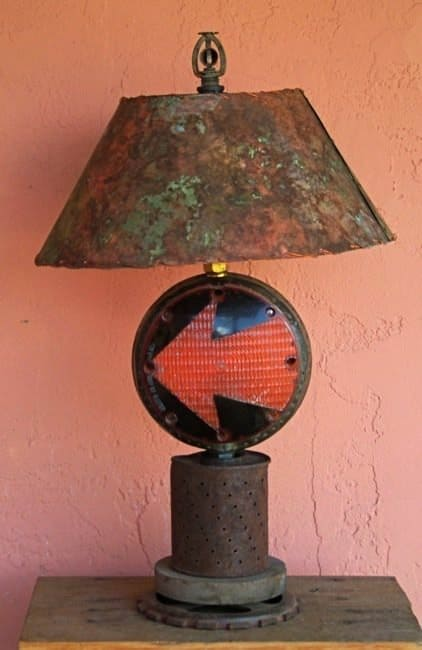 Recycled sculptural lamps