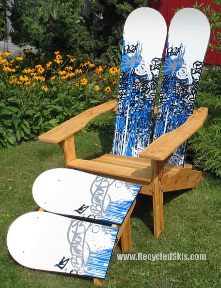Ski Chair & Other Winter Furniture Recycled Furniture Recycled Sports Equipment