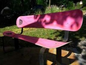 Snowboard bench