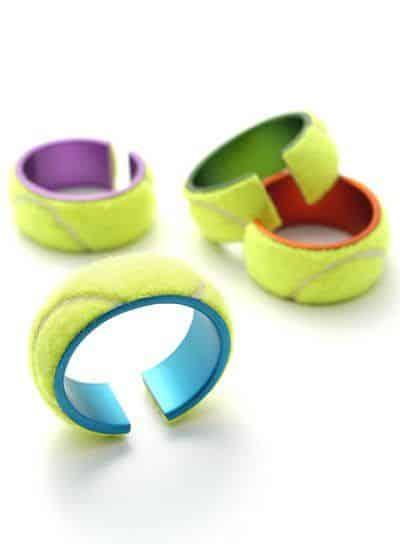 Tennis ball jewelry