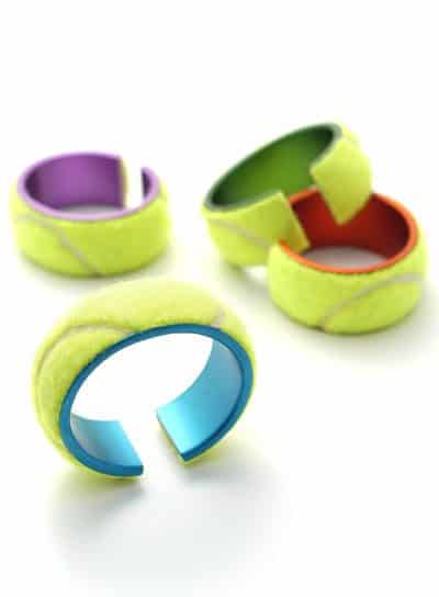 Tennis Ball Jewelry Accessories Upcycled Jewelry Ideas