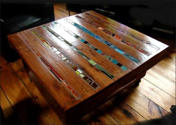 Pallet Table with Mosaic