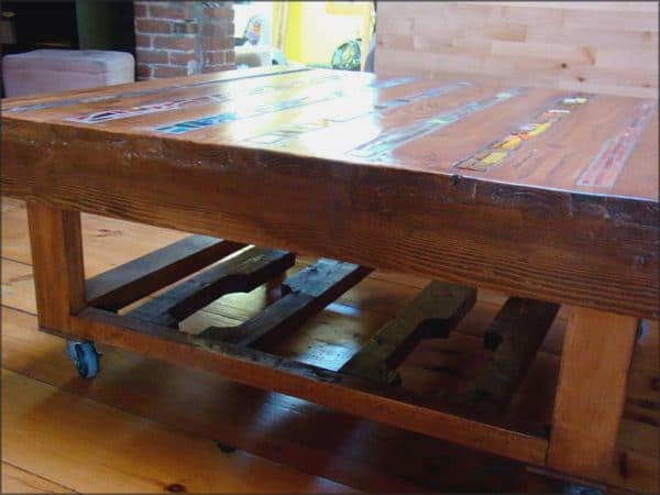 Coffee Table of Wooden Pallets in wood pallets 2 furniture  with Table Recycled Pallets organic Furniture Art
