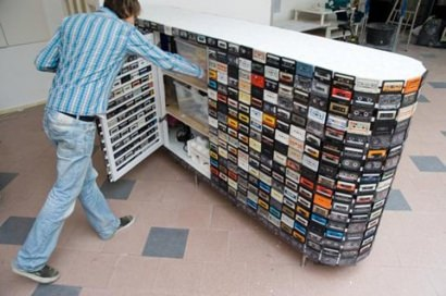 Recycled tape furniture