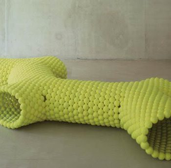 Tennis ball bench