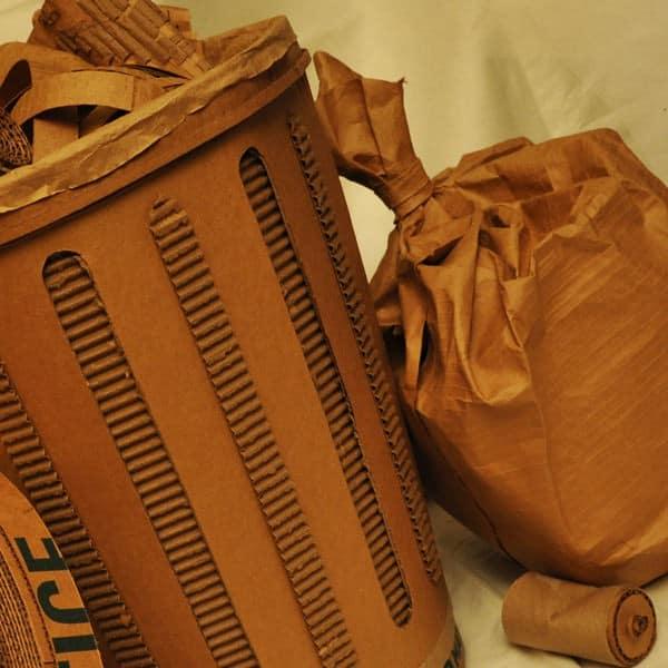 Cardboard trash can Recycled Cardboard
