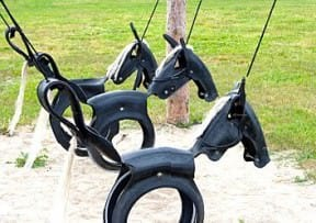 Tyre horse swing
