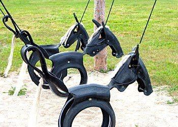Tyre horse swing