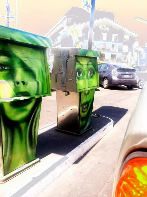 Gas Station Re-up Home Improvement Recycled Art