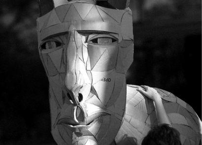 Chimera, Cardboard Sculpture
