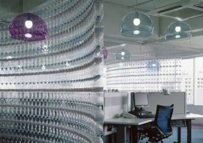 Water bottle wall