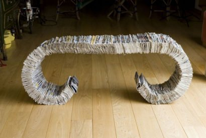 Newspapers bench and stool
