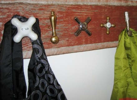 Faucet coat rack