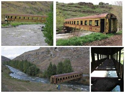 Old Train Wagon Bridge