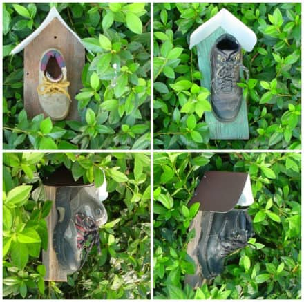 Old Boot Into Birdhouse