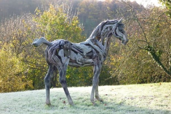 Driftwood Horse Sculptures Recycled Art Wood & Organic