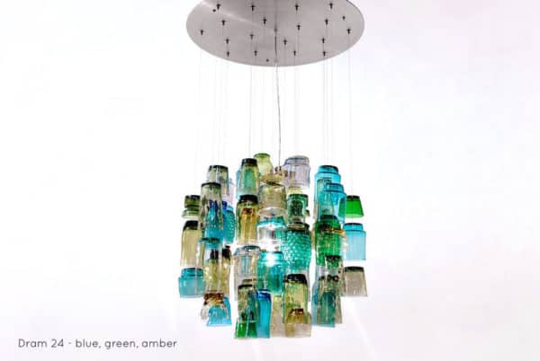 Dram Glasses Chandeliers Lamps & Lights Recycled Glass