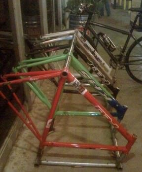 Bike frames as a bike rack