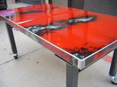 Recycle car into table