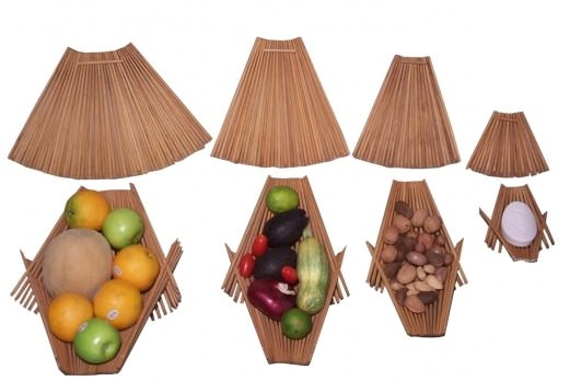 Recycled chopstick accessories Accessories Wood & Organic
