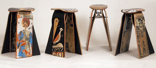 deck stool Recycled skateboard stool
