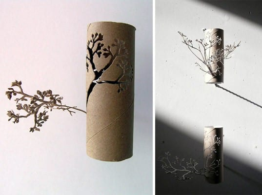 Toilet Paper Roll by Yuken Teruya Recycled Art