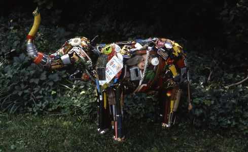 Junk sculpture by Leo Sewell Recycled Art